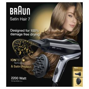 SATIN HAIR 7 HD730 PHON ASCIUGACAPELLI 2200W IONTEC CON DIFFUSORE